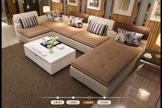 Moon Li Elysees fabric sofa modern minimalist washable size apartment living room corner combination Busha - Taobao