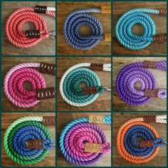 6ft Custom Dyed Ombre Rope Dog Leash by TheDogsBollocksPB on Etsy