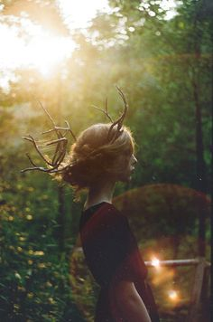 Most popular tags for this image include: girl, nature and forest