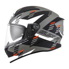 Κράνος Suomy Speedstar Flow Matt White-Grey Suomy Helmets, Flip Up Helmet, Motorcycle Outfit, Bicycle Helmet, Grey And White, Flow, Resins, Weights, Lighter
