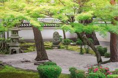 Japanese Rock Garden, Portland Japanese Garden, Japanese Tree, Zen Sand Garden, Lush Garden, Terrace Garden, Garden Walls, Gardens Of Stone, Zen Gardens
