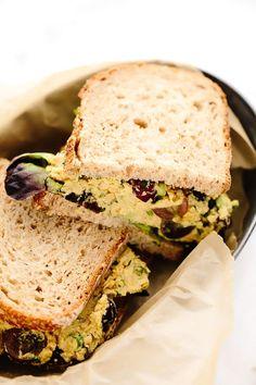 Vegan Curried Chickpea Salad - Blissful Basil