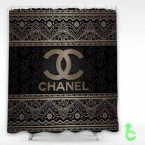 Chanel Vintage Luxurious Dark Shower Curtain