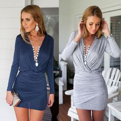 I found some amazing stuff, open it to learn more! Don't wait:https://m.dhgate.com/product/hot-sexy-casual-v-neck-sheath-mini-dress/389689669.html