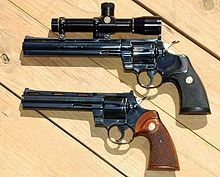 ".357 Magnum revolver, because ""Hokey religions and ancient weapons are no match for a good blaster at your side, kid."""