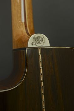 Asher Acoustic guitar with hand cut scrimshaw by Robert Asher