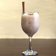 Snowball Cocktail recipe: 1921 Tequila Cream Liqueur, Vanilla, Kahlua, Milk, Cinnamon