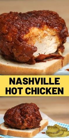 Nashville Hot Chicken Recipe You don't need to book it to Tennessee to enjoy super crispy and spicy fried chicken. Spicy Fried Chicken, Fried Chicken Recipes, Recipe Chicken, Grilled Chicken, Baked Chicken, Nashville Hot Chicken Recipe, Nashville Fried Chicken, Yum Yum Chicken, I Love Food