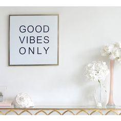 Good Vibes Only Framed Print | Gold Frame