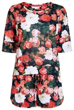 Buy Floral Jersey Short Set from the Next UK online shop Jersey Shorts, Ladies Party, Next Uk, Short Set, Evening Dresses, Floral Tops, Your Style, Uk Online, Prints