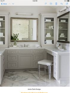 Vanity on right wall