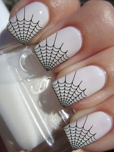 29 Spider Web Tips Nail Art Professional Results Waterslide Decals not Stickers #blackandwhite