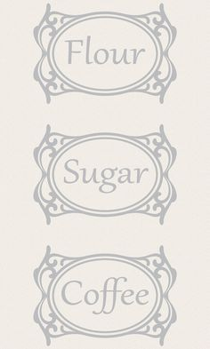 Canister Labels  Set of 3 Etched Glass Vinyl by cherrybcharm, $12.00