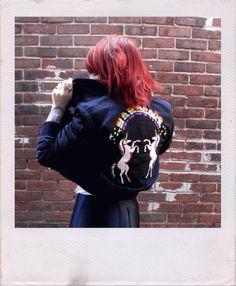luluooh unif hardcore bomber jacket