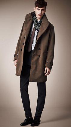 Burberry Prorsum Tumbled Canvas Overcoat