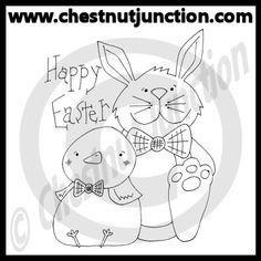 Easter Pals Line Art – Chestnut Junction