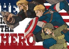 From Steve Rogers to Captain America. Fanart by manga artist Yuusaku Shibata. - Marvel Fan Arts and Memes Heros Comics, Marvel Dc Comics, Marvel Heroes, Avengers Humor, The Avengers, Vision Avengers, Bucky, Die Rächer, Mundo Comic