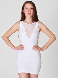 American Apparel - Cotton Spandex Sleeveless Gloria V-Dress