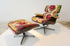 1. Get knock-off Eames lounge. 2. Reupholster that Eames lounge.