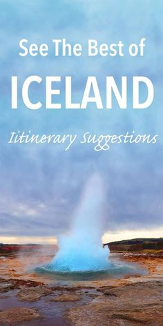 See the best of Iceland with the best Iceland trip itinerary suggestions. Anything from just one day to two weeks, and from Reykjavik to complete Iceland road trip - this is the only guide you'll need to read!