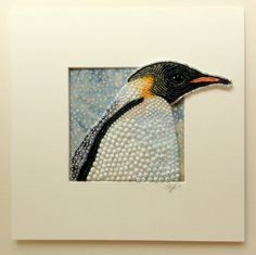 Seed Bead Embroidered Emperor Penguin by Epigman on Etsy
