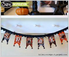 """Spooky"" Halloween fabric banner"