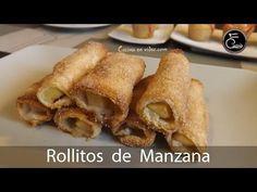 Rollitos de manzana y canela crujientes y jugosos   Recetas Navidad - #Cocinaenvideo 295 - YouTube
