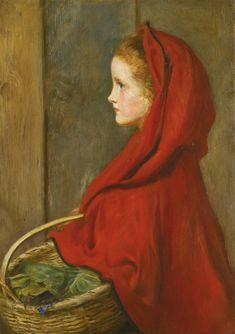 Red Riding Hood by Sir John Everett Millais, P.R.A. (1829-1896)