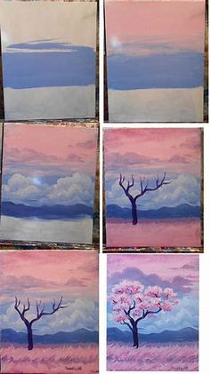 Image result for easy watercolor paintings for beginners Step by Step