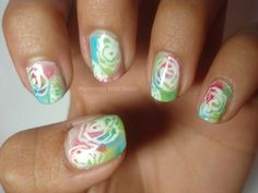 Pampered With Polish: Watercolor Flowers