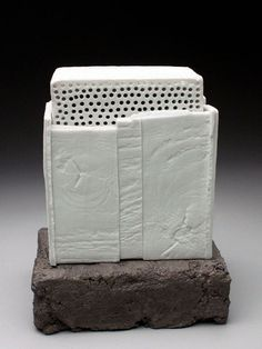 Bryan Hopkins Porcelain Box on Stand at MudFire Gallery