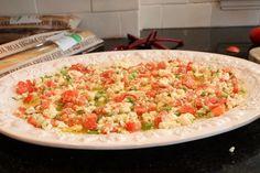 {Feta Dip: olive oil. feta cheese.  tomatoes. green onions. baguette. Greek Seasoning.}  1 large platter