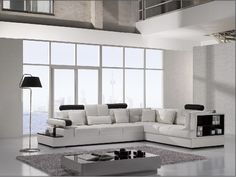 Modern Leather Sectional Sofa furniture in White - $2652 -- Features: L shape, Made of the best leather compounded with high quality leather match material. #sofas #furniture #LAfurniture #sectionalsofa #sectionals #couches #Furnituredesign #HomeDecor #whitecouch #whitesofa #leathersofa #leathersofas #leathercouch #leathercouches