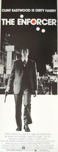 The Enforcer insert movie poster. Clint Eastwood as Dirty Harry