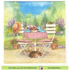Wir essen im Garten - 1 Serviette