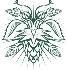 Hops Emblem Royalty Free Stock Vector Art Illustration