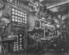むき出しの機械がひしめき合う第一次世界大戦時のドイツ海軍潜水艦「Uボート」の内部写真シリーズ - DNA