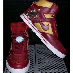 Custom Iron Man 2 Nike Air Delta Force AC Shoes by MP Kustom Kicks ❤ liked