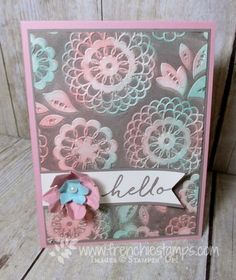 Stamp & Scrap with Frenchie: Ink on Embossing Folder Maybe Faux Patina