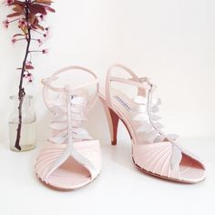 083c42a3df424 love shoes addict mariage patricia blanchet Escarpins MARIUS rose poudré  glitter bride wedding chaussures Escarpin Rose