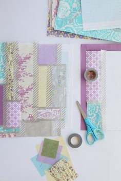 paper quilting to use up scraps