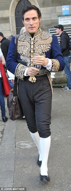 Rufus Sewell in costume as Lord Melbourne at Beverley