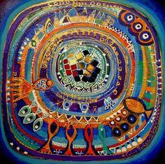 Pomegranate Art, Turkish Art, Guache, Aboriginal Art, Texture Art, Art Journal Inspiration, Fabric Art, Art Techniques, Online Art