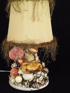 Mother 's Day Gift .Unique Sea shell Lamp with by DouceBoutique