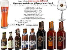 Fino al 3 Maggio una super promozione che vi lascerà a bocca aperta, ma non asciutta! :D 55 € per un kit di 12 birre artigianali, 2 calici e 2 sottobicchieri