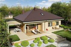 Modern Bungalow Family Home with Dynamic Features - Pinoy House Designs - Pinoy House Designs Modern Family House, Small Modern Home, Bungalow House Design, Modern Bungalow, Contemporary House Plans, Modern House Plans, Story House, Simple House, Architecture