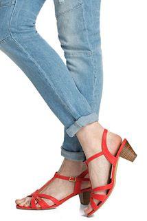 Sommerliche T-Strap Sandalette