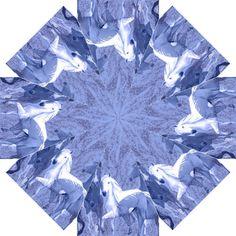 blue horses umbrella Straight Umbrella
