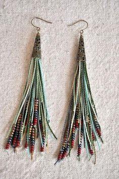 fringe earrings by wanting