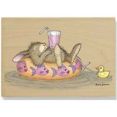 Bunny Cruise - House Mouse HappyHoppers rubber stamps